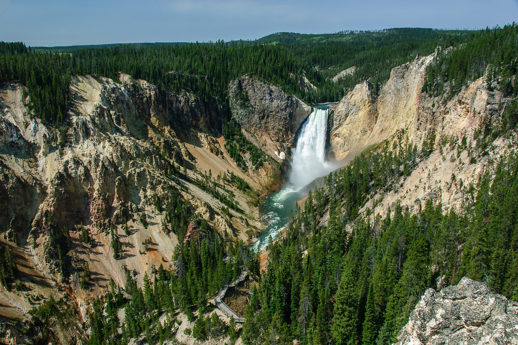 Yellowstone waterfall by lorenkerns, on Flickr