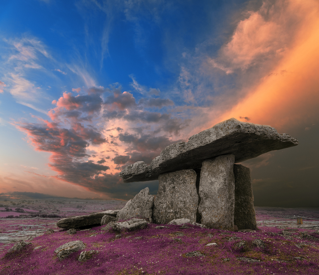 Poulnabrone Dolmen Sunset - Lavender Fan by freestock.ca ♡ dare to share beauty, on Flickr