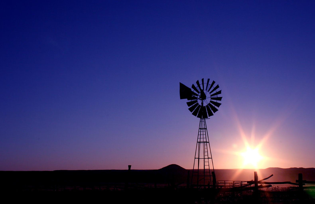 Windmill Waving Goodbye by makelessnoise, on Flickr