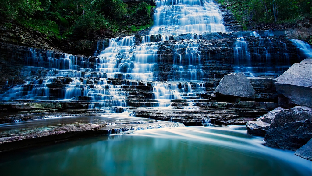 Ladder Steps Waterfall - Most Beautiful by jin.3444, on Flickr