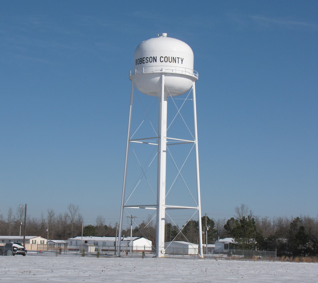 Robeson County Water Tower by Gerry Dincher, on Flickr