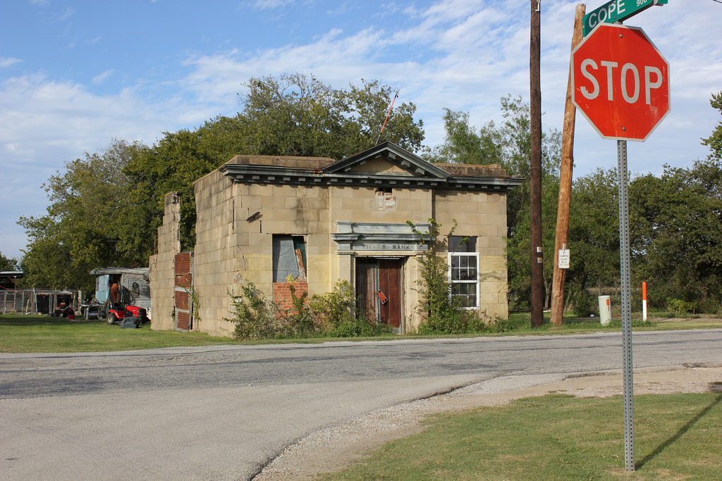 Old Citizens Bank, Britton, Texas by TexasExplorer98, on Flickr