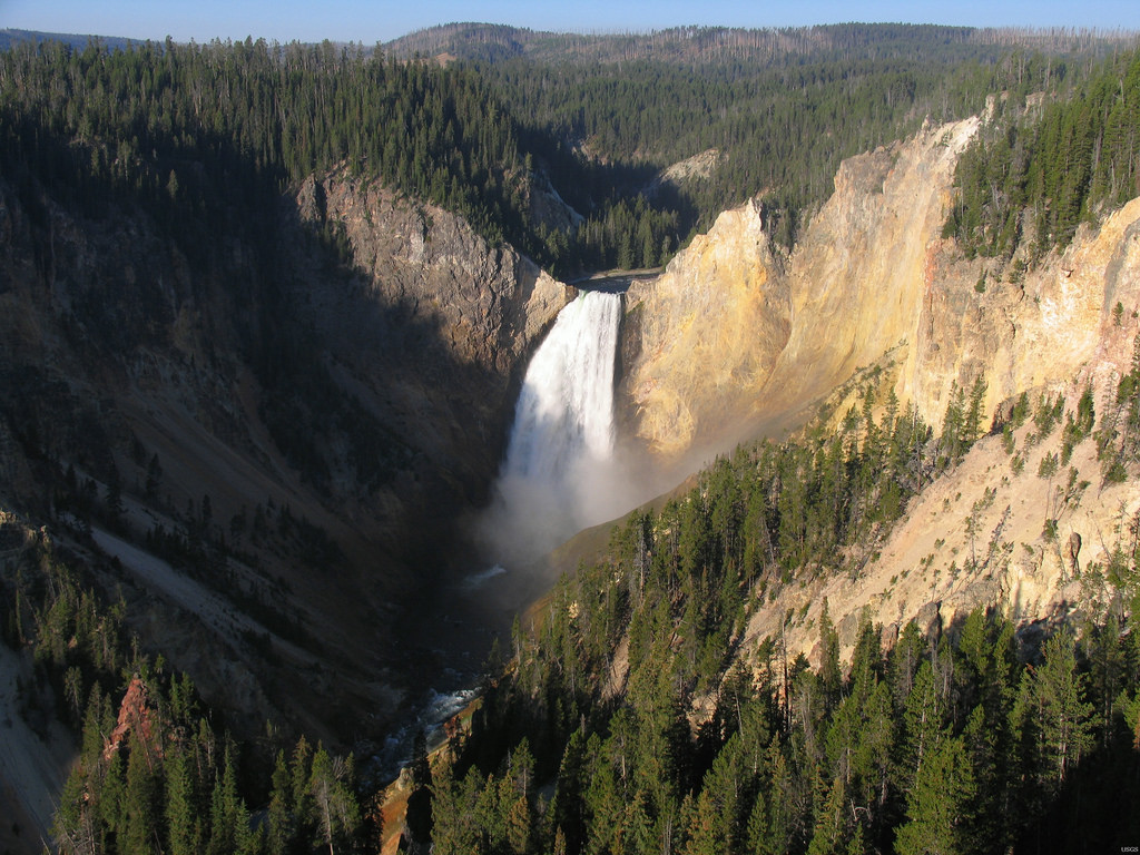 Lower Falls of the Yellowstone River, Ye by U.S. Geological Survey, on Flickr