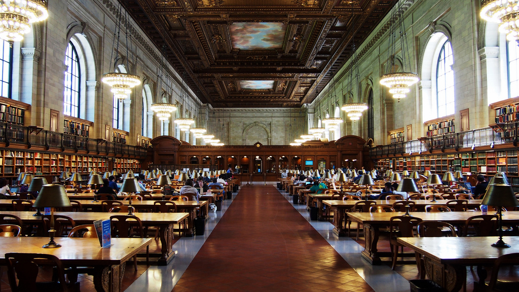 New York Public Library - Rose Reading R by Michael M. S., on Flickr