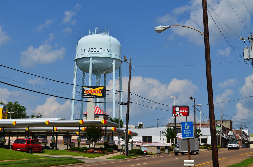 Water Tower and Fast Food by CapCase, on Flickr