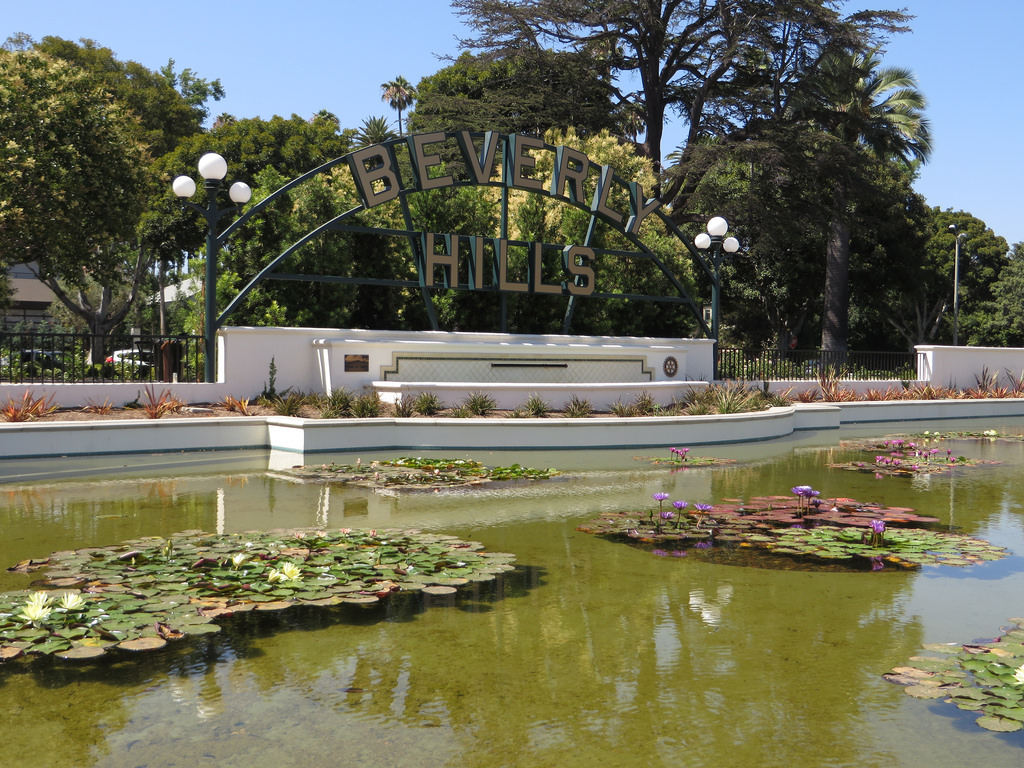 Beverly Hills Sign, Lily Pond, Beverly G by Ken Lund, on Flickr