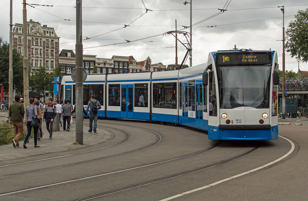 Amsterdam Centraal tram GVB 2029 alslijn by Rob Dammers, on Flickr
