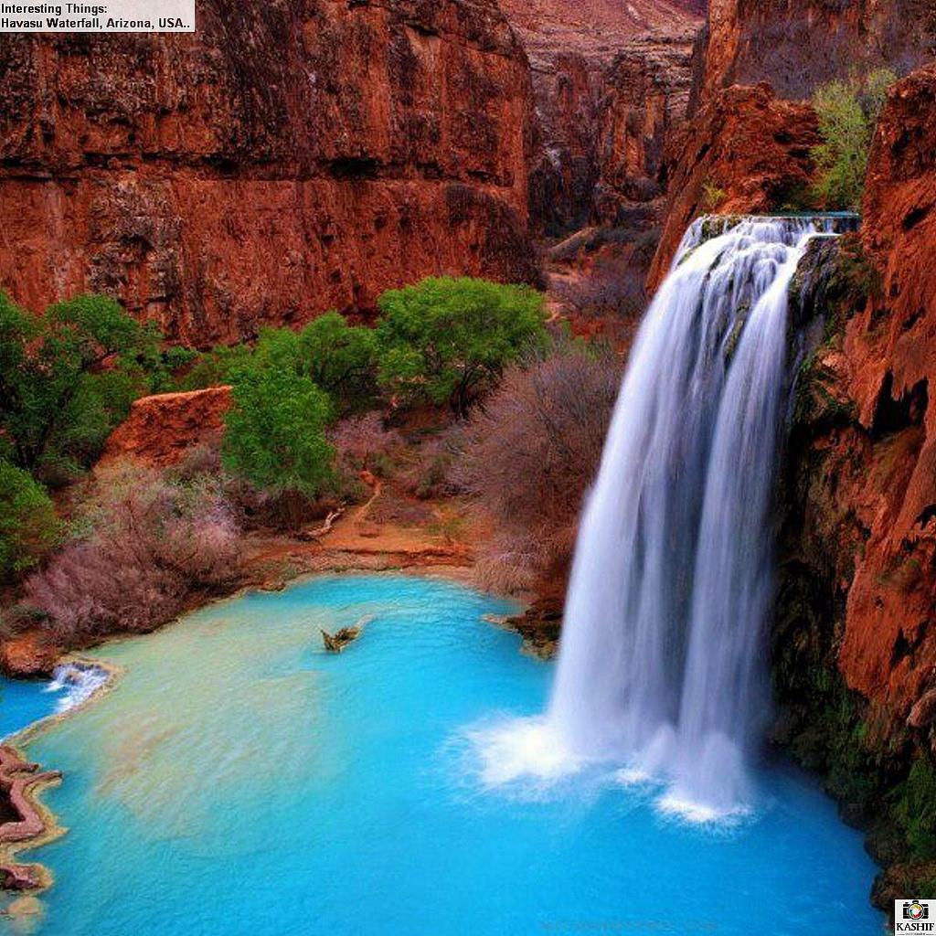 Havasu Waterfall, Arizona, USA.. by furiouskaa5786, on Flickr