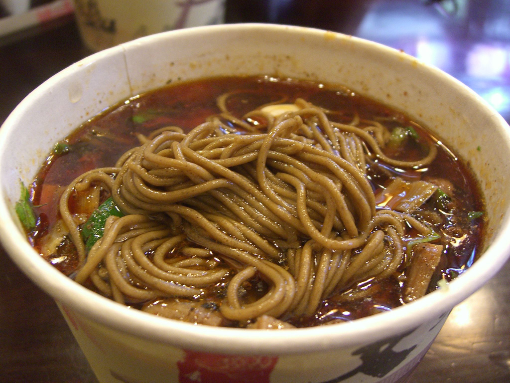 Hand-Pressed 荞面 Buckwheat Noodles cl by avlxyz, on Flickr