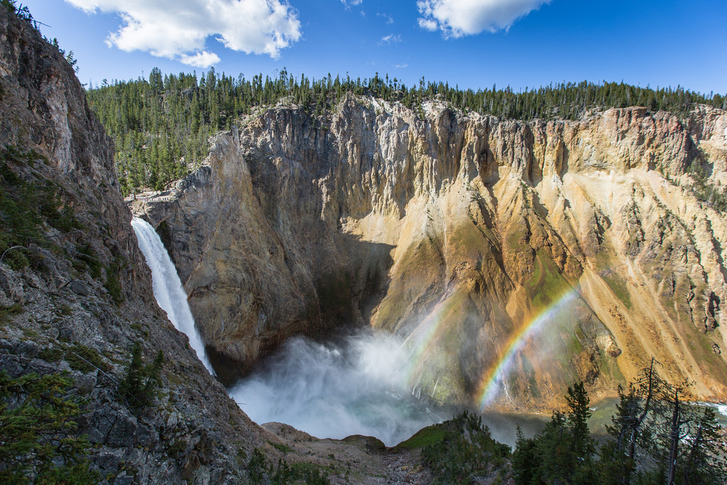 Double rainbow at the Lower Falls of the by YellowstoneNPS, on Flickr