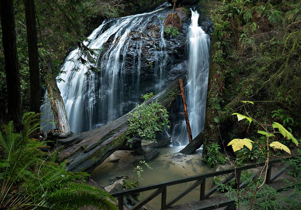 Waterfall, Fern Creek, Russian Gulch Sta by Steven Bratman, on Flickr