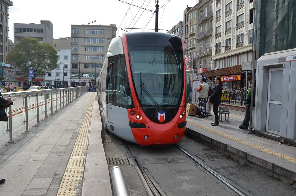 A tram (streetcar) rolls in at last by shankar s., on Flickr