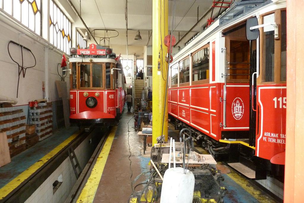 T. IETT Tram depot of Taksim-Tünel (T2) by michelhuhardeaux, on Flickr
