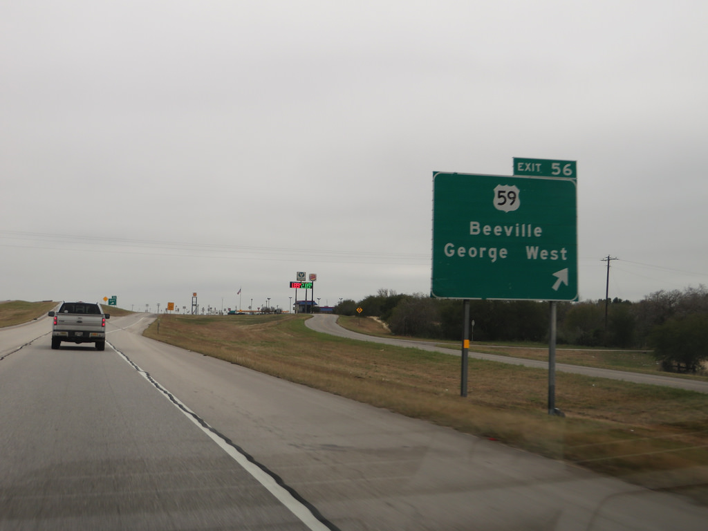 Exit to U.S. Route 59, Interstate 37 Nea by Ken Lund, on Flickr