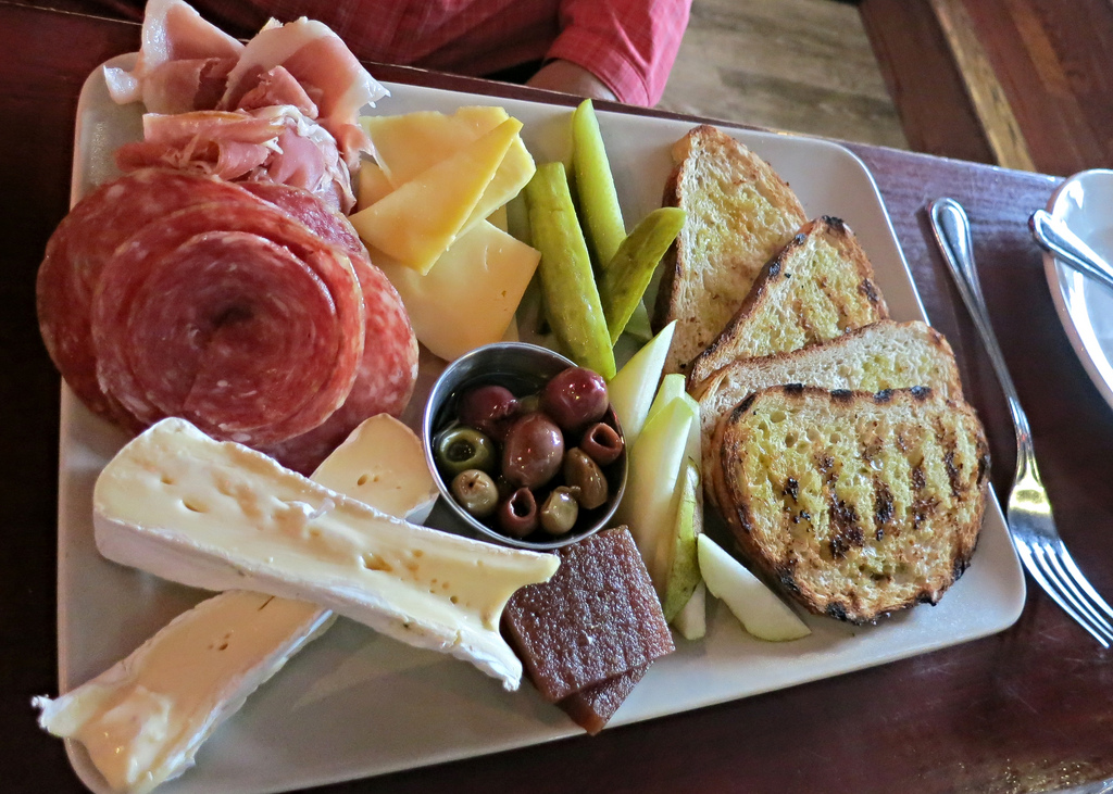 Charcuterie and cheese plate by Ruth and Dave, on Flickr