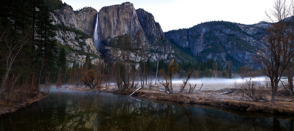 Yosemite Falls - Just before the sun bre by Andrew V Kearns, on Flickr