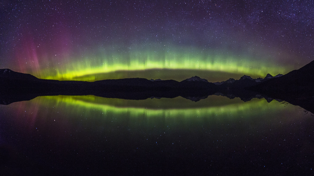 Aurora Arc on Lake McDonald by GlacierNPS, on Flickr