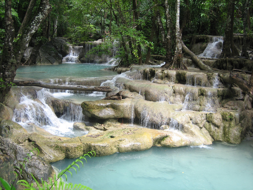 Erawan Waterfalls -- 7 Steps to Heaven by Todd Huffman, on Flickr