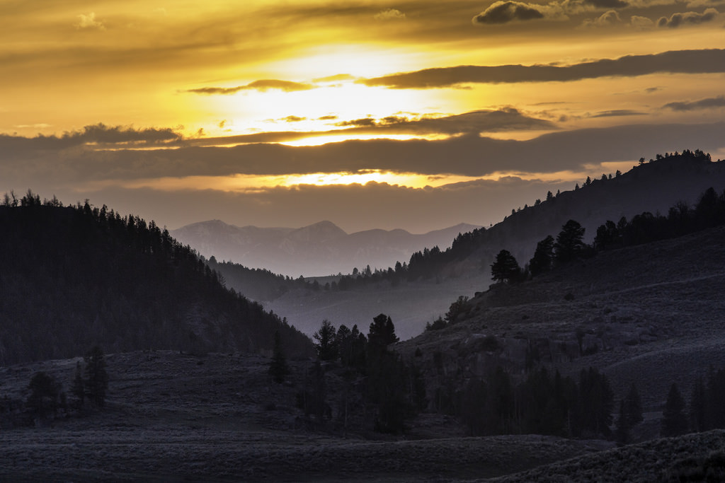 Sunset, Lamar Valley by YellowstoneNPS, on Flickr