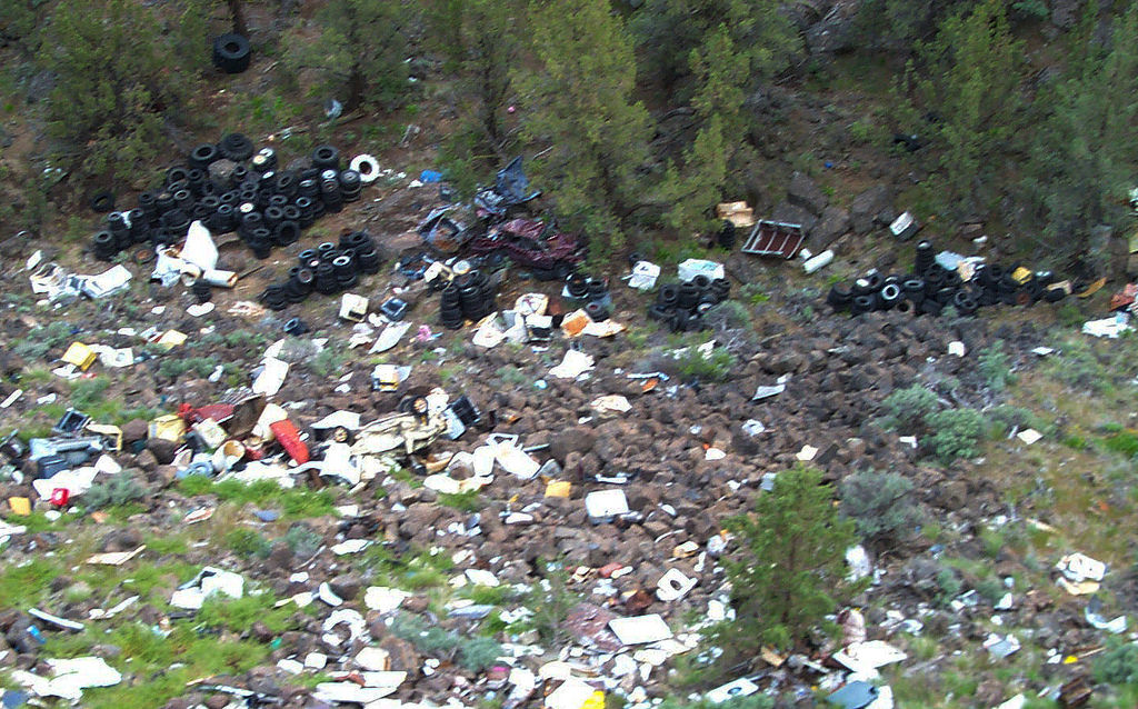 Millican Cliffs illegal dump site in the by BLMOregon, on Flickr