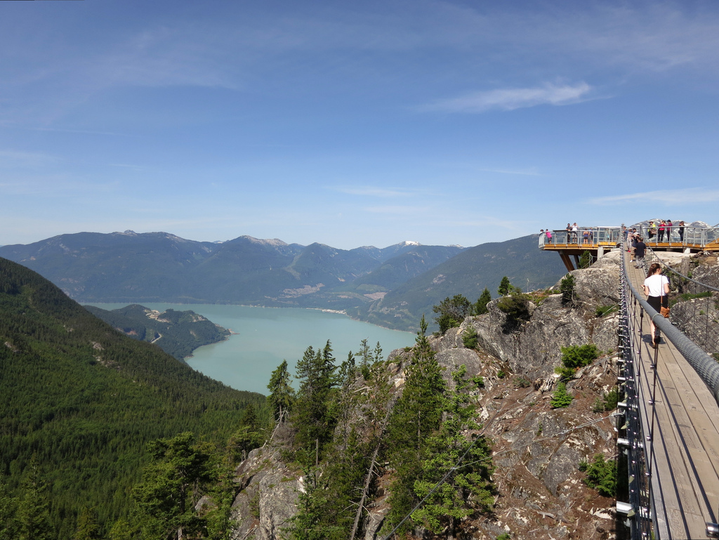 Howe Sound from Sky Pilot Suspension Bri by Ruth and Dave, on Flickr