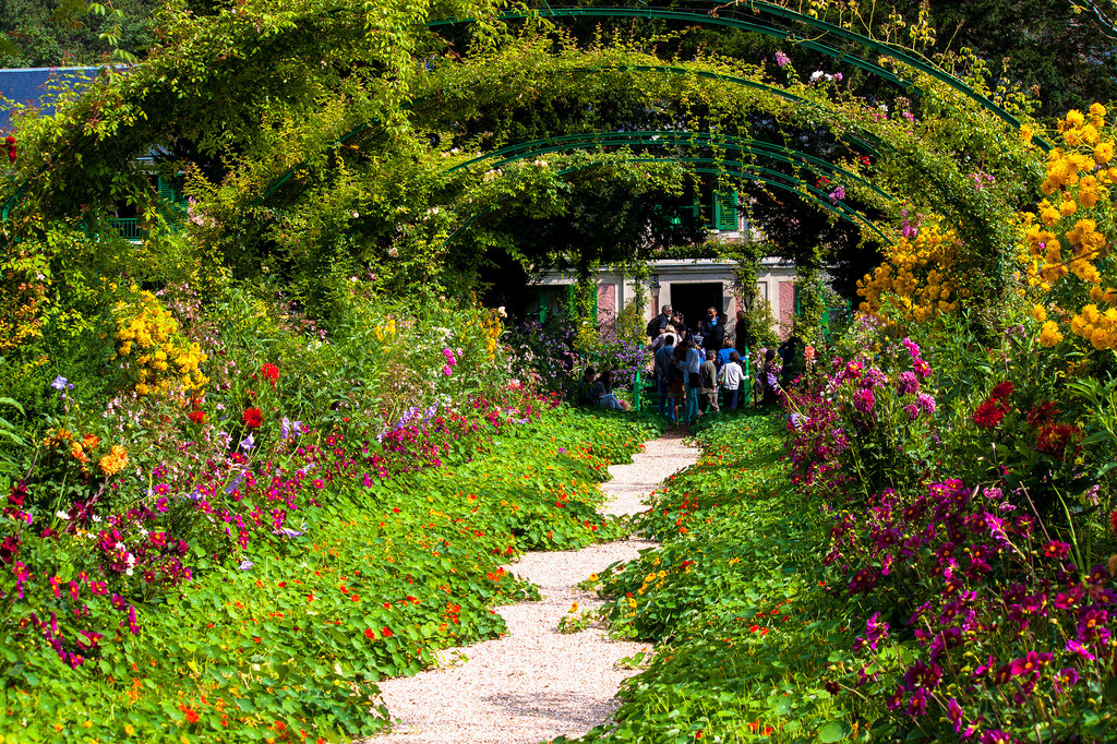 Rose Arches in Claude Monet garden, Give by Andy Hay, on Flickr