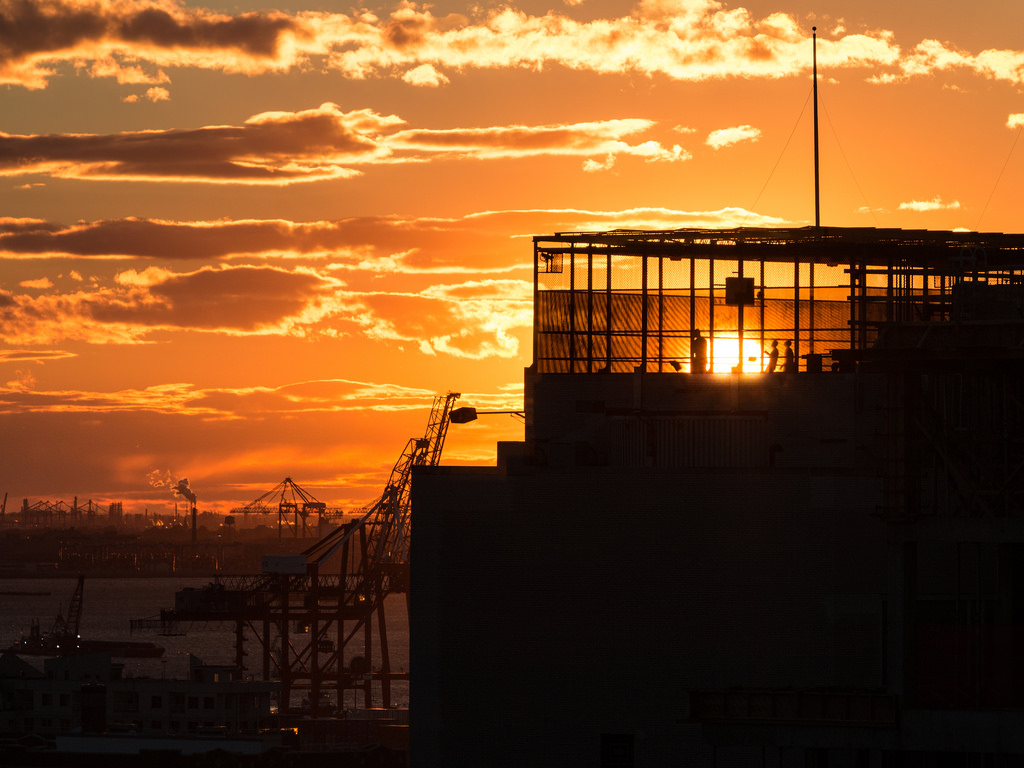Rooftop Basketball at Sunset at the Broo by jqpubliq, on Flickr