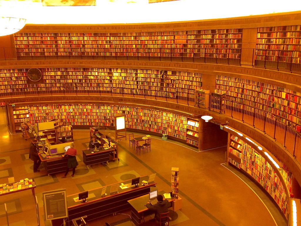 Stockholm Public Library by elmindreda, on Flickr