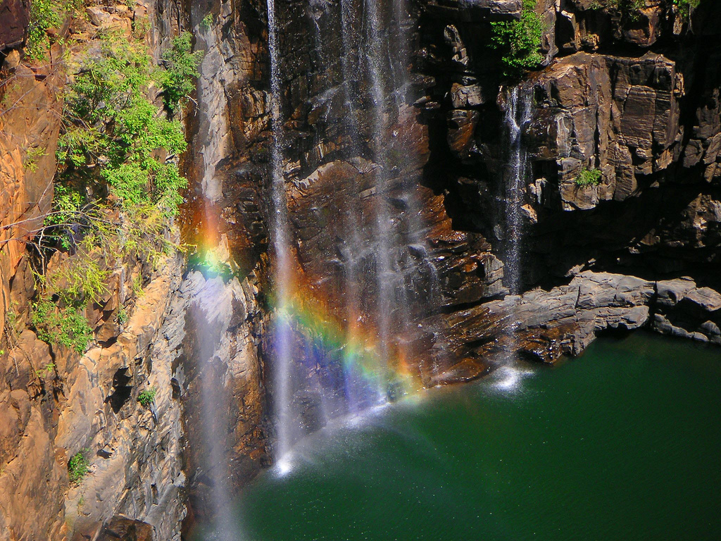 Waterfall and rainbow by NeilsPhotography, on Flickr