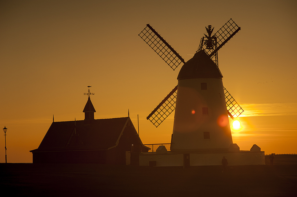 lytham windmill sunset gold by Jeff Holt UK Photographer, on Flickr