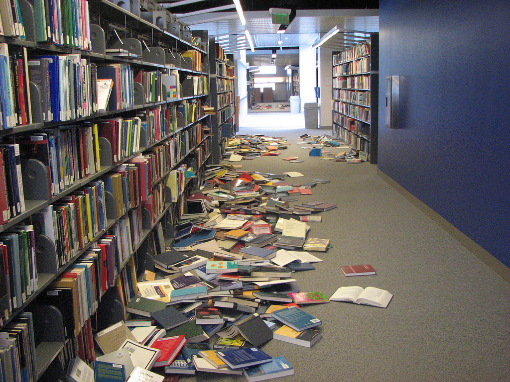 After the 2007 earthquake. by San José Public Library, on Flickr