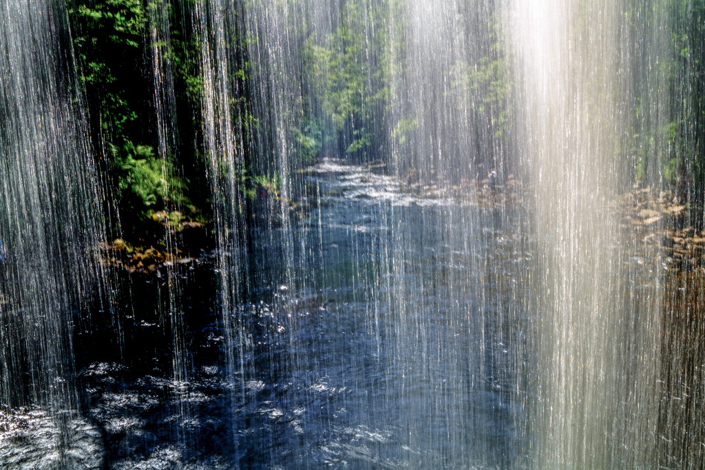 Behind The Waterfall by dolbinator1000, on Flickr