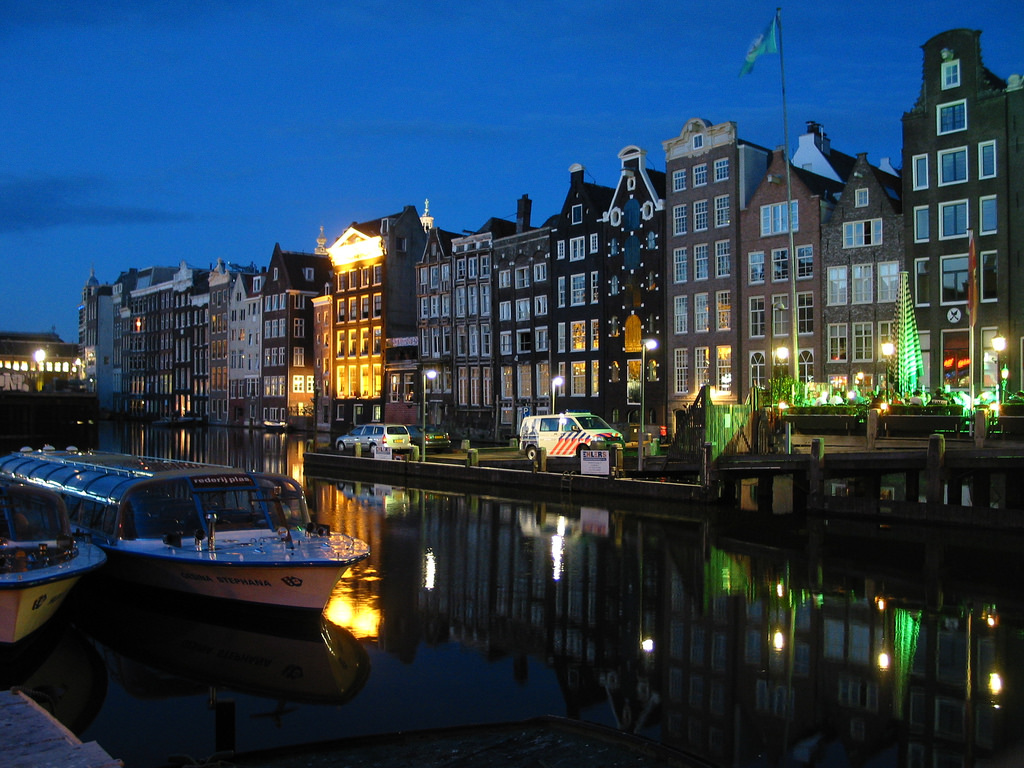 Amsterdam, Netherlands at Night by alex.ch, on Flickr