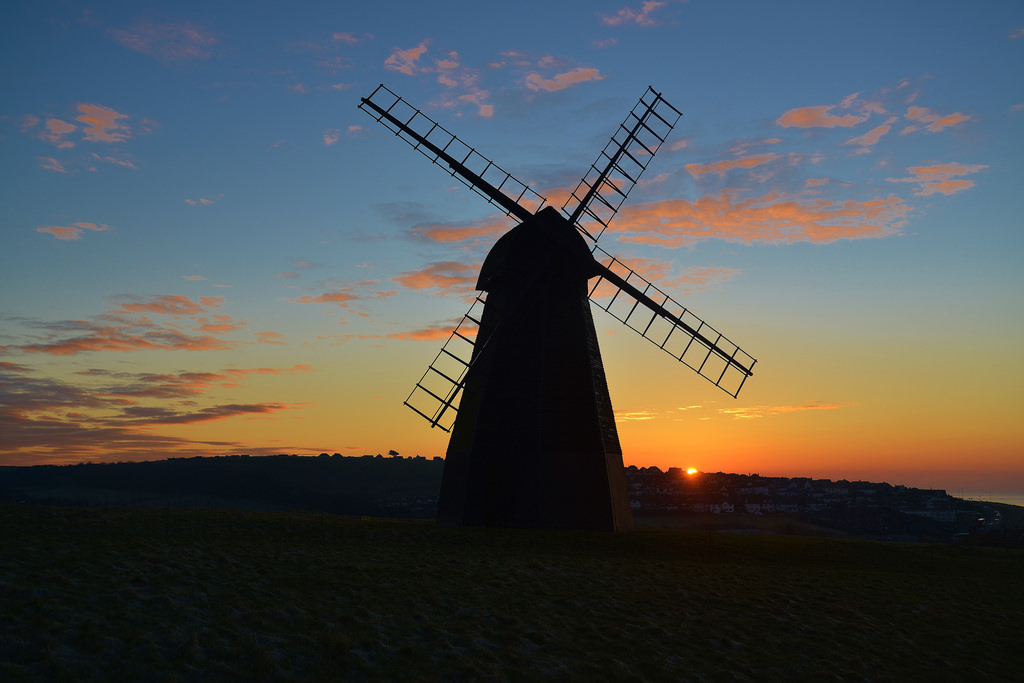 Sunrise, Rottingdean Windmill, East Suss by barry.marsh1944, on Flickr