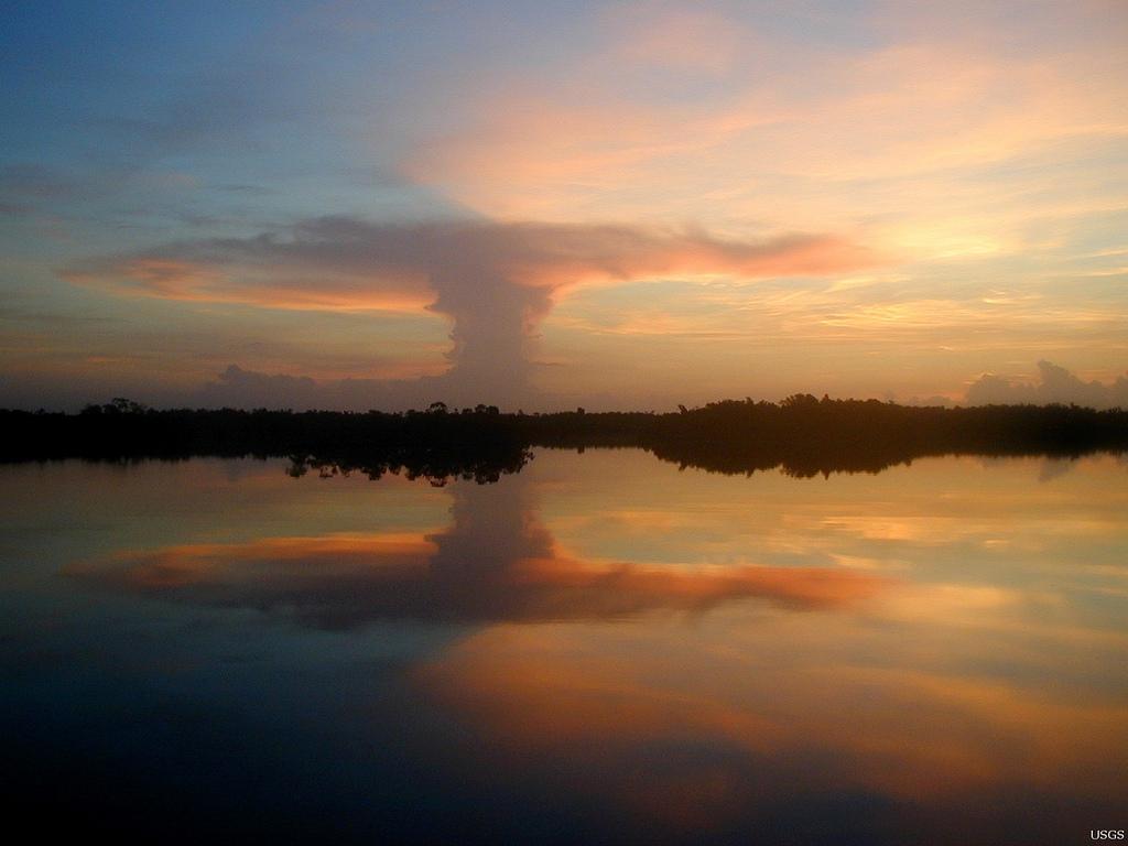 Sunrise Over Mangrove Shoreline by U.S. Geological Survey, on Flickr