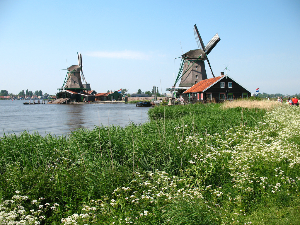 Windmills in Zaanse Schans, Netherlands by Bogdan Migulski, on Flickr