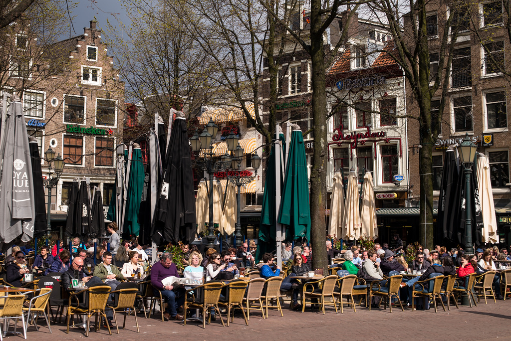 Early Spring at Leidseplein, Amsterdam by romanboed, on Flickr