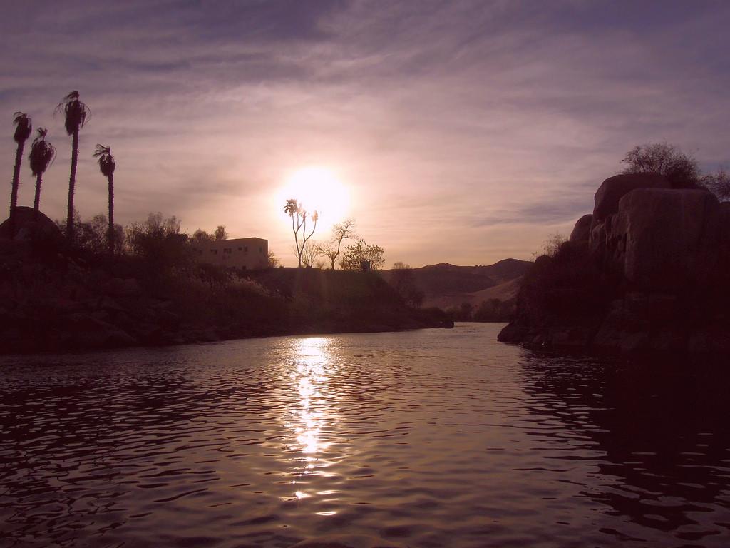Egypt (Aswan) Last sun lights on the Nil by ustung, on Flickr