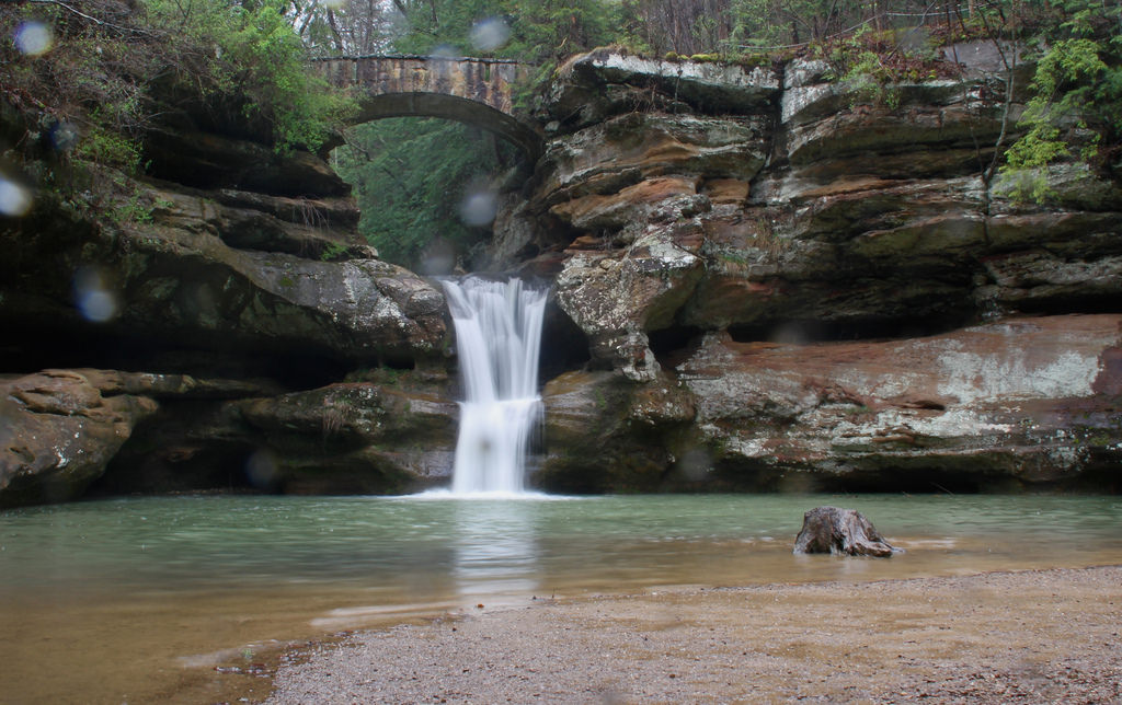 Spring Rain, Old Man's Cave, Upper Falls by See1,Do1,Teach1, on Flickr