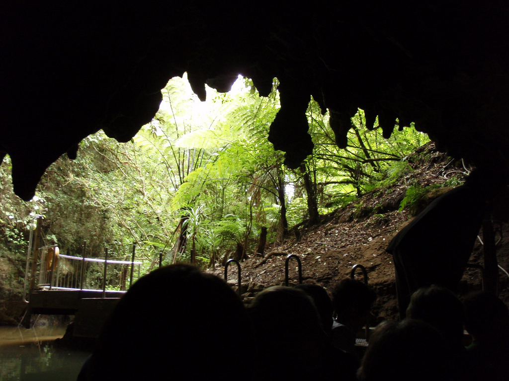 Exiting Waitomo cave by robertpaulyoung, on Flickr