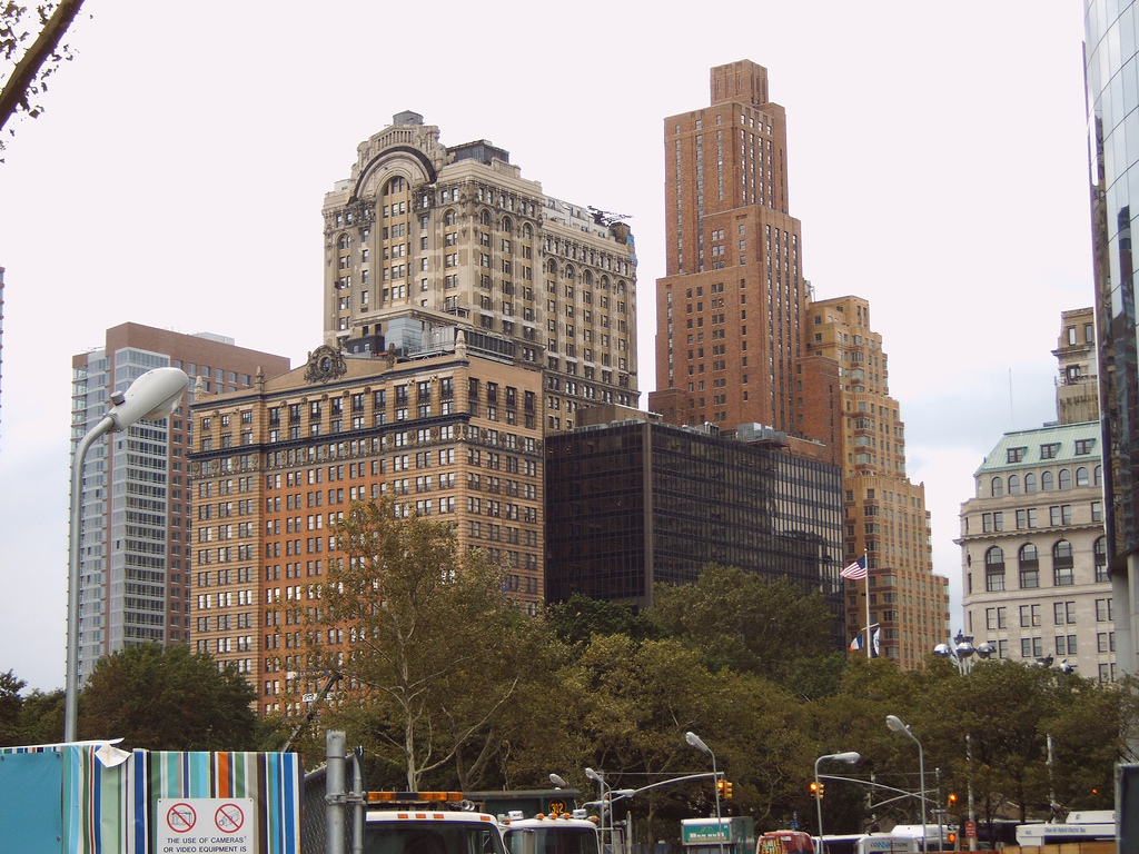 Old skyscrapers in Lower Manhattan by Willem van Bergen, on Flickr
