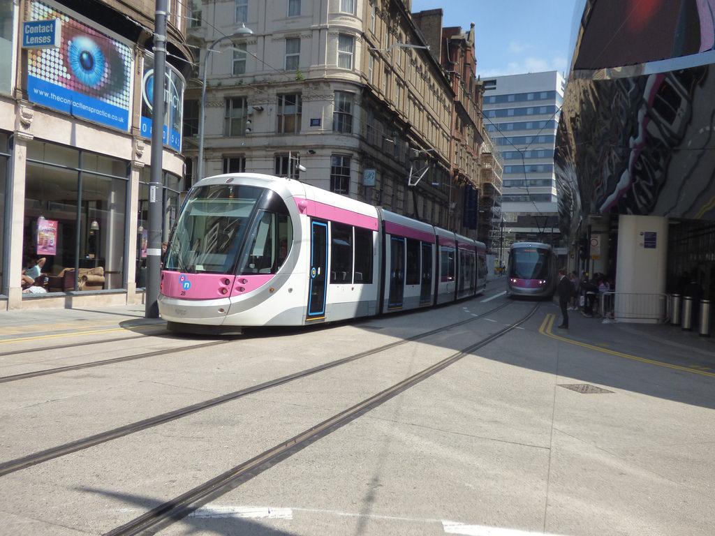 Midland Metro - Urbos 3 - tram 28 and 19 by ell brown, on Flickr