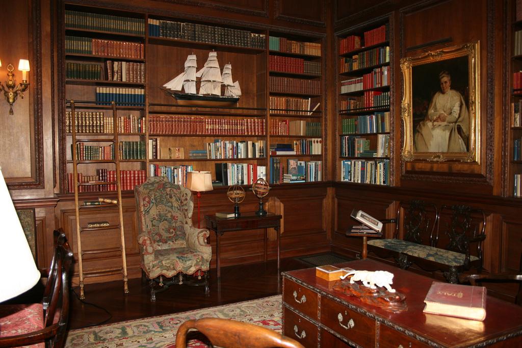 Filoli Mansion - Library by Jill Clardy, on Flickr