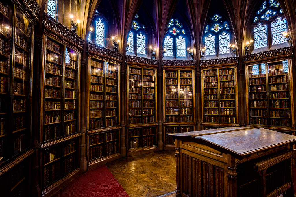 The John Rylands Library Reading Room En by michael_d_beckwith, on Flickr
