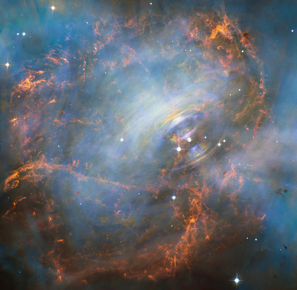 Moving heart of the Crab Nebula by HubbleSite, on Flickr