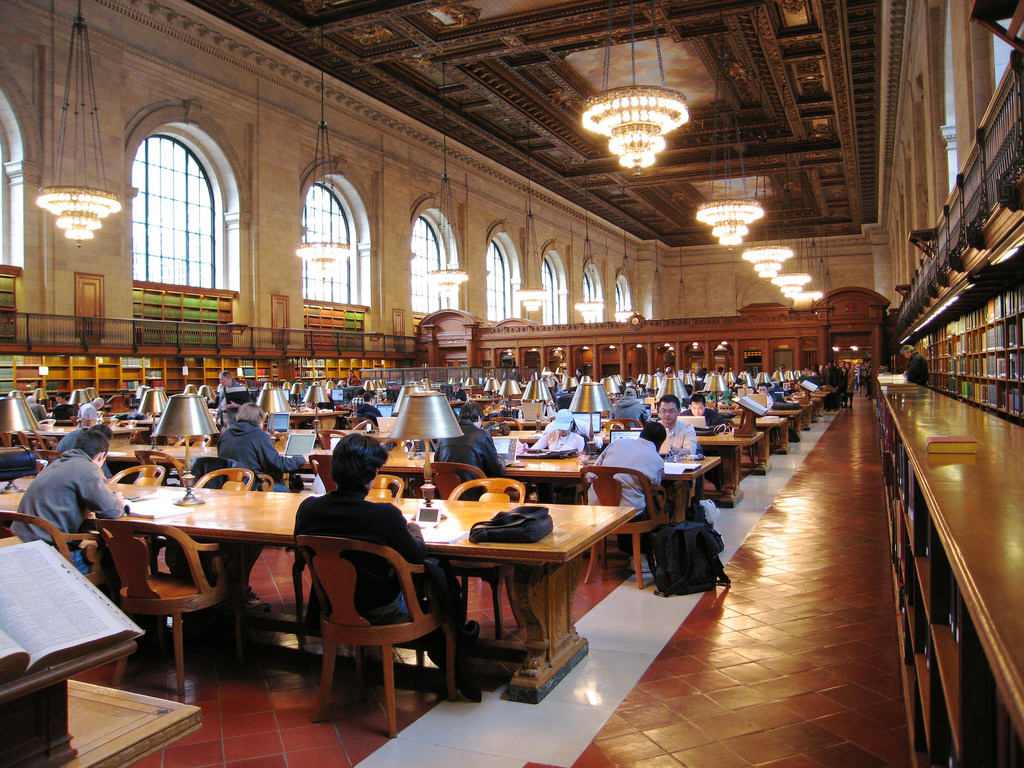 Main reading room at the library by TimWilson, on Flickr