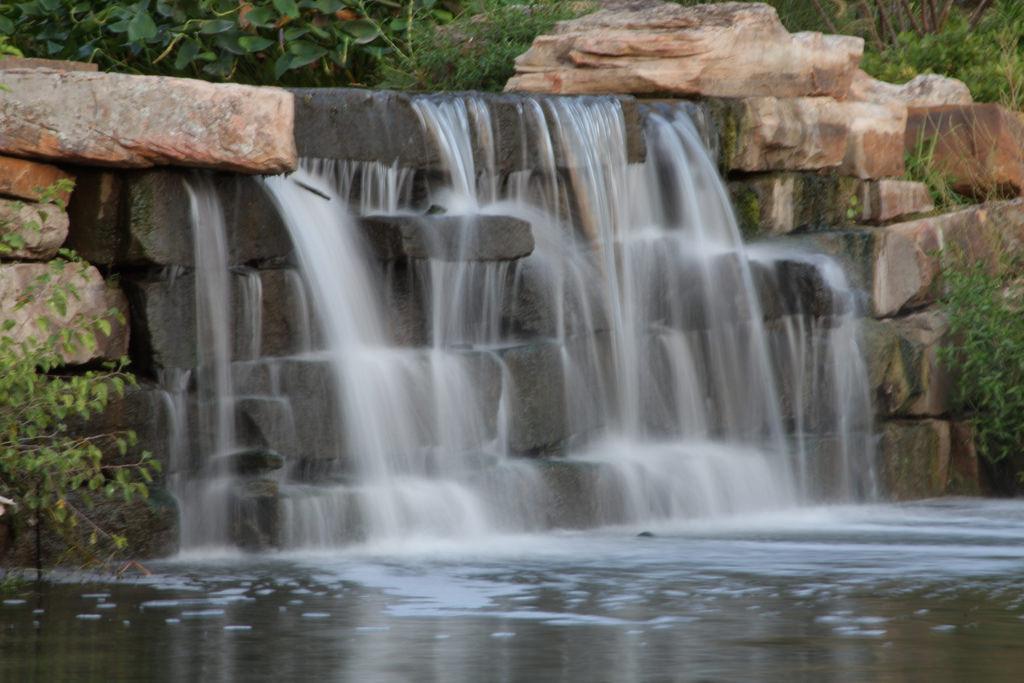 Waterfall at Centennial Park, Tulsa, OK by Brett Barnes, on Flickr