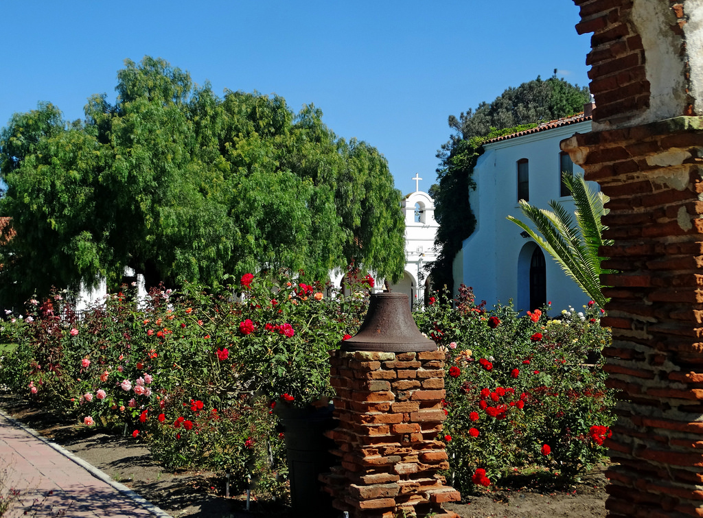 Garden and Pepper Tree, Mission San Luis by inkknife_2000 (8 million views +), on Flickr