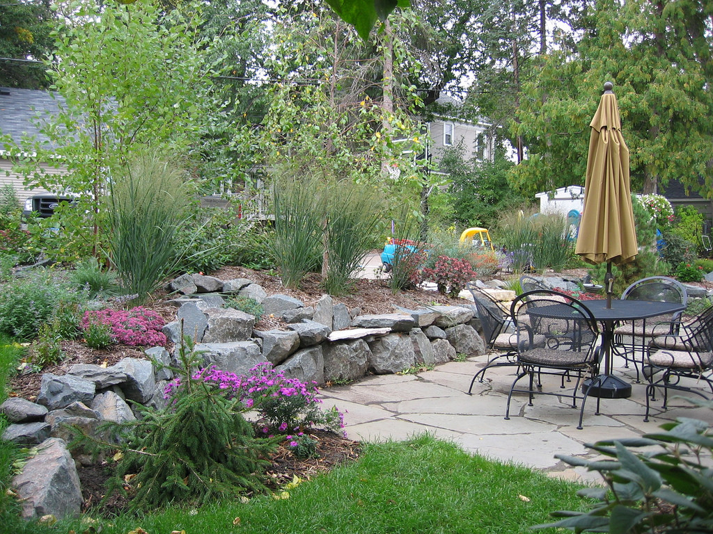 Flagstone patio by Field Outdoor Spaces, on Flickr
