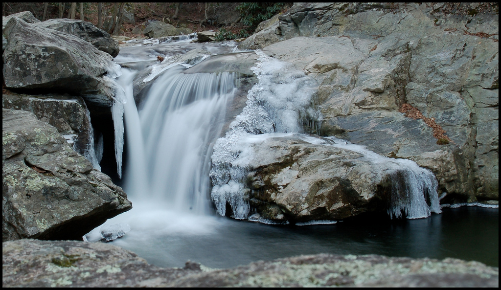 Top of Trashcan Falls - Winter 08 (2) by fincher69, on Flickr